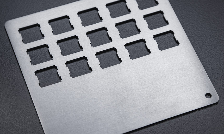 Brushed Stainless Steel keyboard plate