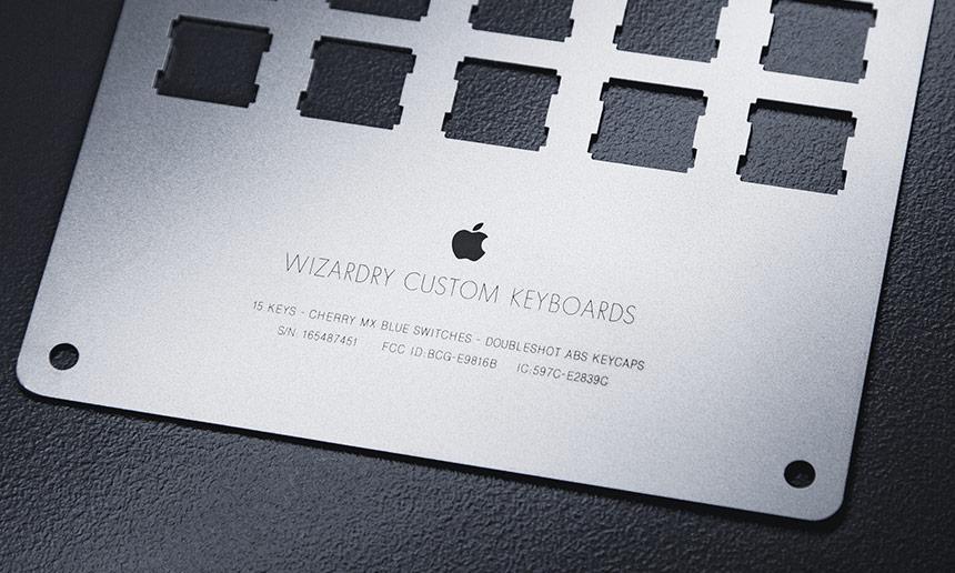 Sandblasted Stainless Steel keyboard plate
